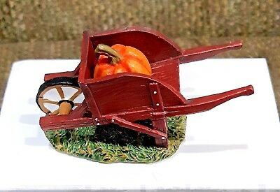 Dept 56 Village Accessories Harvest Fields Wheelbarrow 4047615 In Box Euc