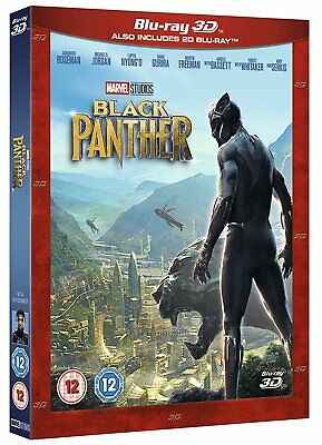 BLACK PANTHER 3D (Blu-ray 2D/3D) BRAND NEW!!  MARVEL