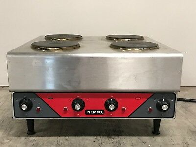 Nemco - Raised (4) Burner Counter-top Electric Hotplate 240v - NM-63112240-E1300