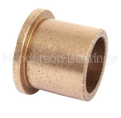 AL101610 Oil Filled Sintered Bronze Bush - Flanged 10x16x10mm