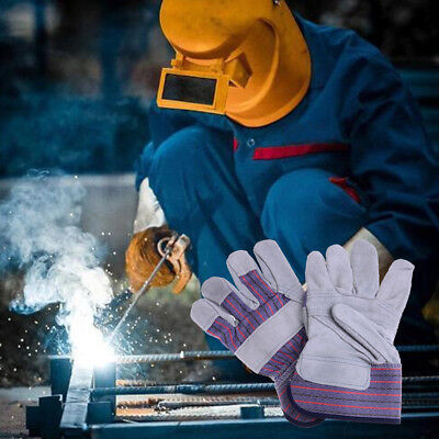 Pro safe welding work soft cowhide leather plus gloves for protecting hand IU