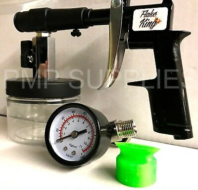 Flake King 1000 Dry Metal Flake Spray Gun Exclusive Rare Black Limited Edition