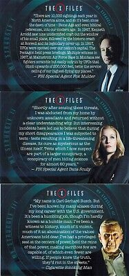 X-Files Seasons 10 & 11: My Struggle Monologues: Lot of 4 Cards # 2-4-5-8