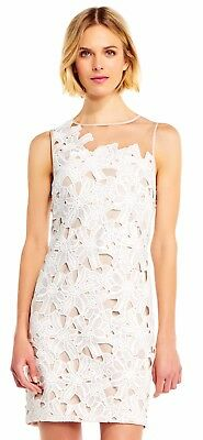 fbffc9c7 Adrianna Papell Floral Embroidered Lace Sheath Dress Nordstrom ASOS Lulus  Bridal
