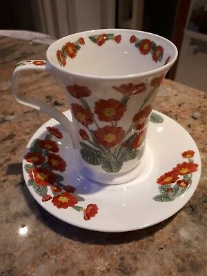 Dunoon Flower of the Month mug and saucer, March-primrose