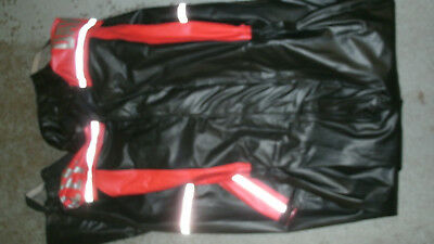 Harley Davidson Black and Red Full Body Rain Suit (S)  ***LOOK***