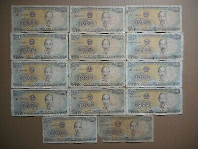 Vietnam 1000 Dong 1988 (Lot of 15 Banknotes)