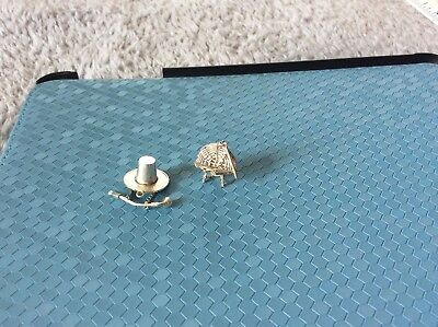Lot of Two Vintage Sterling Silver Charms. ???? What Are They ????