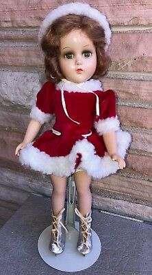 """R & B Arranbee Composition 15"""" Doll Ice skater No Crazing!"""