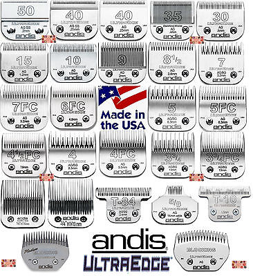 ANDIS UltraEdge Steel Blades Fit Oster,Wahl,Laube AG/BG/A5 Clippers Pet Grooming
