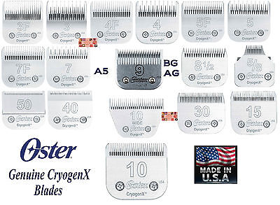 OSTER Cryogen-X A5 DETACHABLE Blade Fit A6,Andis AG BG,Many Wahl,Moser Clippers