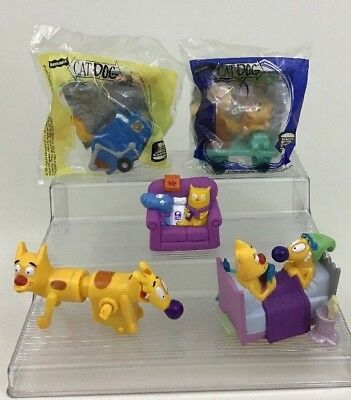 Cat Dog Toy Wind-up/ Pull Back Lot 5pc Full Set Nickelodeon Burger King 1999