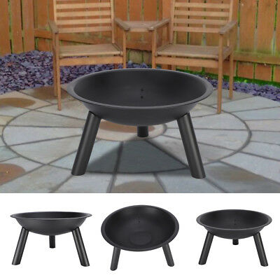 Cast Iron Outdoor Fire Pit Bowl Round Patio Fire Portable Fire Pit 22-Inch
