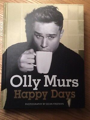 SIGNED, Olly Murs, Happy Days, Like New Hardback, 1st Edition And 1st Printing