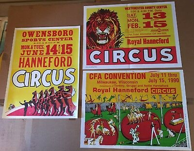 Royal Hanneford Circus Posters - 3 Original Half Sheets - Lot 6