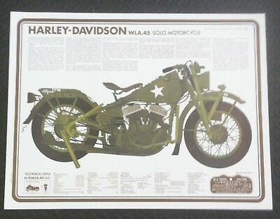 10 WLA  Motorcycle Posters, WW2 Army Harley-Davidson Liberator.