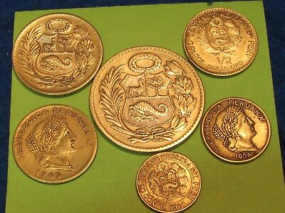 Peru 6 coins....... combine shipping and save $$$$