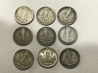 Lot of 28 coins years 1905 to 1945 -  20 Centavos  - Philippines