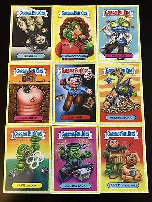 Garbage Pail Kids Oh The Horror-ible 2018 45 card Yellow Lot No Doubles