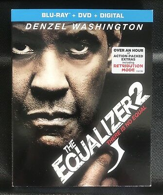 The Equalizer 2 (Bluray + DVD + Digital HD) Brand New w/Slipcover