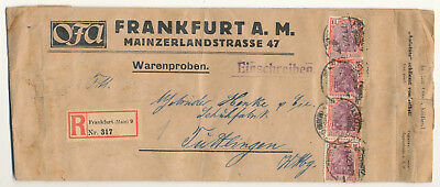 GERMANY REICH # 151 a VARIETY REGISTERED SAMPLE (1922)