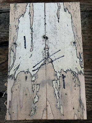 Spalted tamarind bookmatched knife scale / knife handle set