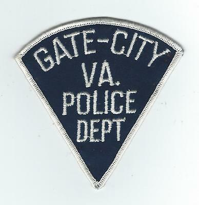 VINTAGE GATE-CITY, VIRGINIA POLICE DEPT.(CHEESE CLOTH BACK) patch