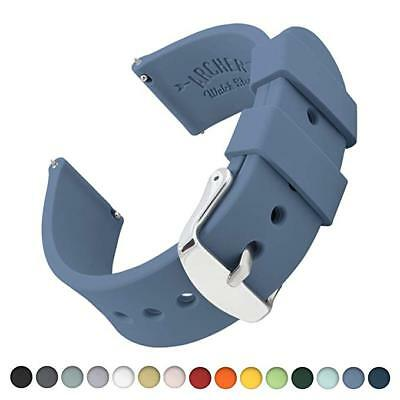 Watch Straps Silicone Quick Release Soft Rubber Replacement 22mm (W27)