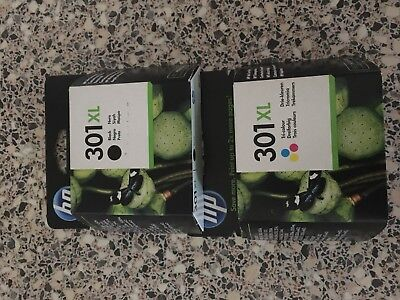 Genuine HP 301XL Black & HP 301XL Colour Inkjet Cartridge Twin Combo Pack
