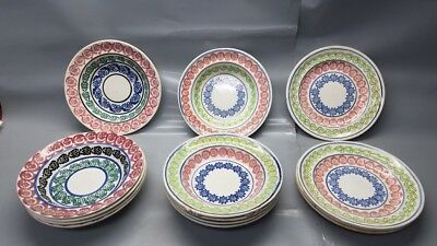 RARE 1874 Adgillus Shipwreck Recovery Set of Dishes10 Bowls 4 Plates