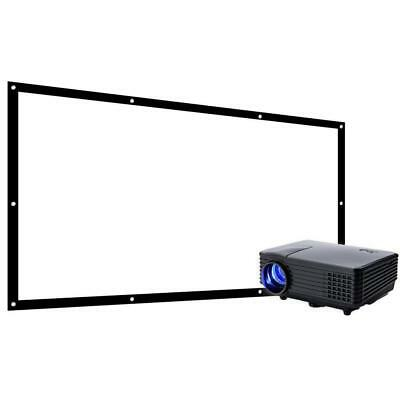 """Favi Home or Portable LED Projector with 100"""" Screen Bundle (1500-1999) NEW"""