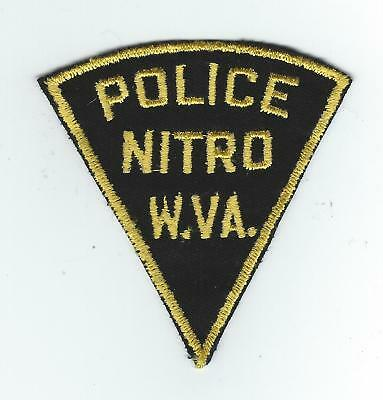 VINTAGE NITRO, WEST VIRGINIA POLICE (CHEESE CLOTH BACK) patch