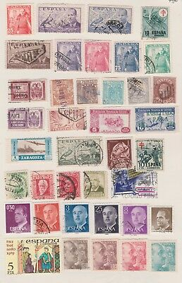 SPAIN Mostly Early Issues, Diff Cancels etc Old Book Pages, Removed to send #