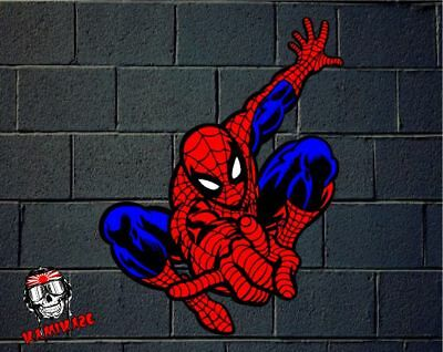 Pegatina Sticker Autocollant Adesivi Aufkleber Decal Spider Man Laminated