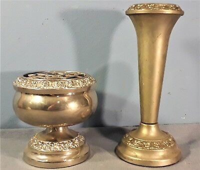 Vintage Silver Plated Rose Bowl and Vase by Ianthe of England