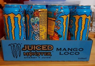 7 x Monster Energy Juiced Mango Loco ungeöffnet je 500 ml