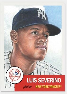 2018 Topps Living Set #115 Luis Severino NY Yankees Baseball Card PR 4,061