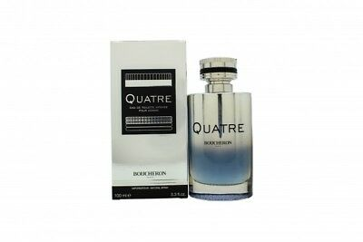 Boucheron Quatre Intense Pour Homme Eau De Toilette Edt 100Ml Spray - Men's. New