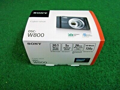 Sony  DSC-W800 20.1MP Cyber-shot Digital Camera Black NEW
