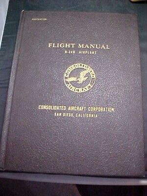Rare WW2 B-24D Flight Manual