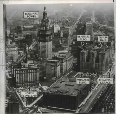 1950 Press Photo The Purchase of Cleveland Terminal Group of Buildings in Ohio