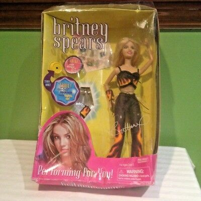 Britney Spears Performing For You Rare Doll  Brand New Damaged Box Free Shipping