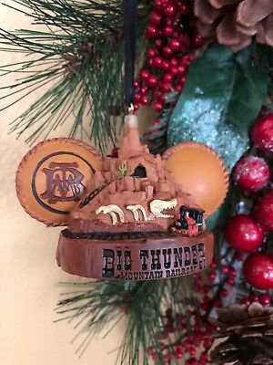 New Disney Parks Big Thunder Mountain Mickey Ears Hat Ornament with tags