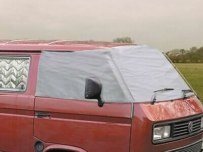 Vw T25 T3 1979-92 External Thermo Silver Screen Windscreen Cover Black Out