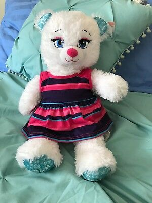 "Build A Bear 17"" Disney Frozen Elsa Teddy Bear Stuffed Animal Doll Plush"