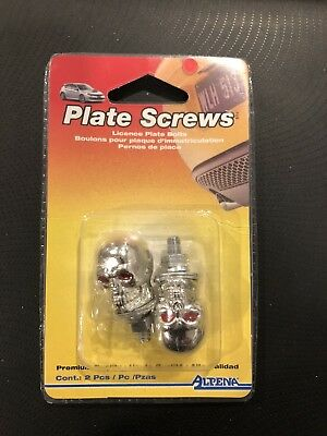 Car Licence Plate Screws Skull Lot Of 10 Packs Fits Most Cars