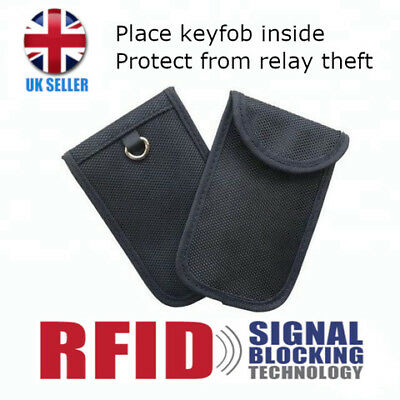 RFID Keyless car key Anti Fraud Theft Entry signal blocker faraday bag pouch