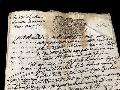 1771 Old Document on Paper