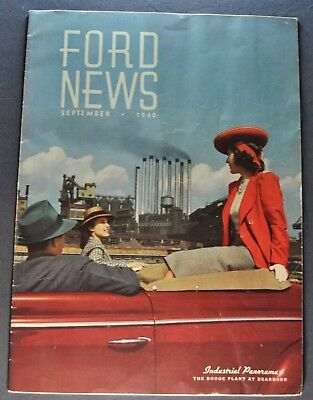 1940 Ford News Brochure Station Wagon Rouge Plant Original 40
