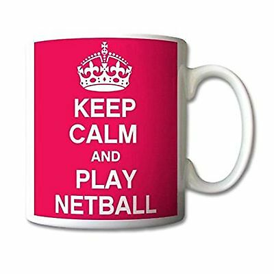 New Keep Calm And Play Netball Pink Birthday Gift Coffee Tea Latte Mug Cup